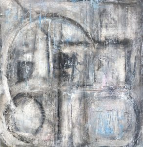 "Sara Finegan • <em>My Missing Love</em> • Acrylic on wood panel • 36""×36"" • $500.00"