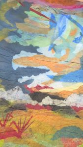 """Denise Kooperman • <em>There Will Be Brighter Days</em> • Felted papers • 36""""×60"""" • NFS"""