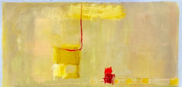 """Ileen Kaplan • <em>Blue Skies</em> • Oil, collage, oil stick,oil pastel • 48""""×24"""" • $1,500.00<a class=""""purchase"""" href=""""https://state-of-the-art-gallery.square.site/product/ileen-kaplan-blue-skies/216?cp=true&sa=false&sbp=false&q=false&category_id=32"""" target=""""_blank"""">Buy</a>"""
