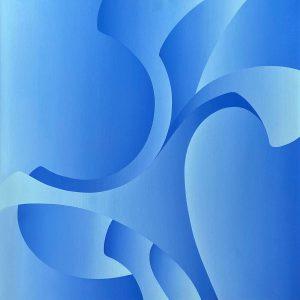 "Frances Fawcett • <em>Wings 2</em> • Acrylic on canvas • 30""×30"" • NFS"