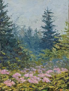"""Diana Ozolins • <em>French Creek</em> • Oil on canvas • 12""""×16"""" • $350.00<a class=""""purchase"""" href=""""https://state-of-the-art-gallery.square.site/product/diana-ozolins-french-creek/433"""" target=""""_blank"""">Buy</a>"""