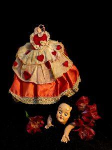 "Nancy Ridenour • <em>Valentine Doll Disaster</em> • Archival print on canvas • 16""×20"" • $150.00"