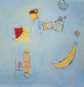 """Ethel Vrana • <em>Child's Play</em> • Oil on canvas • 36""""×36"""" • $1,240.00<a class=""""purchase"""" href=""""https://state-of-the-art-gallery.square.site/product/ethel-vrana-child-s-play/508"""" target=""""_blank"""">Buy</a>"""