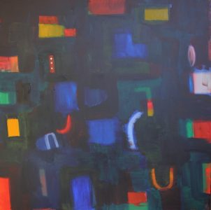"""Ethel Vrana • <em>Deep Blue</em> • Oil on canvas • 36""""×36"""" • $1,240.00<a class=""""purchase"""" href=""""https://state-of-the-art-gallery.square.site/product/ethel-vrana-deep-blue/507"""" target=""""_blank"""">Buy</a>"""