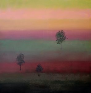 """Ethel Vrana • <em>Eventide</em> • Oil on canvas • 36""""×36"""" • $1,240.00<a class=""""purchase"""" href=""""https://state-of-the-art-gallery.square.site/product/ethel-vrana-eventide/500"""" target=""""_blank"""">Buy</a>"""