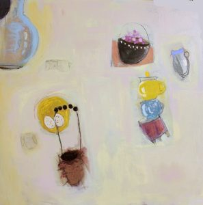 "Ethel Vrana • <em>Still Life with Nest</em> • Oil on canvas • 36""×36"" • $1,240.00<span class=""sold""></span>"