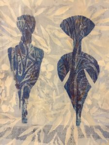 "Patricia Brown • <em>Primordial #23</em> • Mono-print, acrylic on paper • 11""×14"" • $50.00<span class=""sold""></span>"