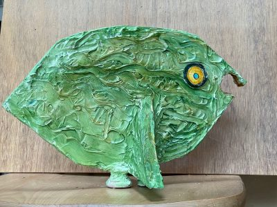 """<div style=""""pointer-events: none"""">MaryAnn Bowman • <em>Fresh Fish</em> • Wood and acrylic  • 14""""×9""""×7"""" • $275.00<a class=""""purchase"""" href=""""https://state-of-the-art-gallery.square.site/product/maryann-bowman-fresh-fish/651"""" target=""""_blank"""">Buy</a></div>"""