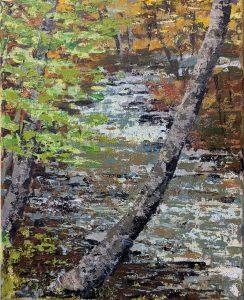 """Diana Ozolins • <em>Mad River, Vermont</em> • Oil on canvas • 8""""×10"""" • $50.00"""