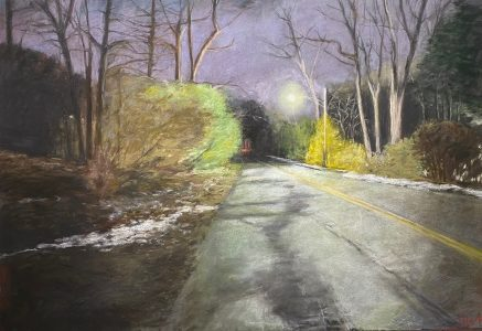 """Diane W Newton • <em>Night Colors</em> • Pastel on black arches paper • 44""""×30"""" • $3,000.00<a class=""""purchase"""" href=""""https://state-of-the-art-gallery.square.site/product/diane-w-newton-night-colors/696"""" target=""""_blank"""">Buy</a>"""