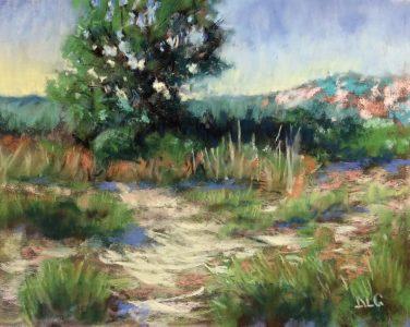 """Abbie Groves • <em>Beside the River</em> • Soft pastel • 10""""×8"""" • $300.00"""