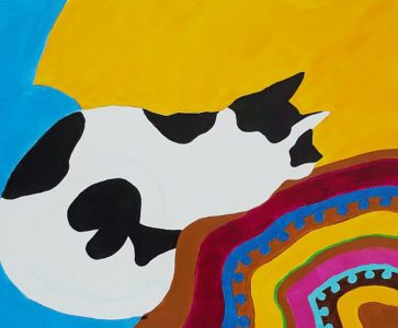 """Mary Vuong • <em>Pistachio At Rest</em> • Acrylic on canvas board • 20""""×16"""" • NFS"""