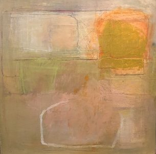 """Ileen Kaplan • <em>Vessel Series #2</em> • Oil, collage, oil pastel, oil stick, graphite • 24""""×24"""" • $1,150.00<a class=""""purchase"""" href=""""https://state-of-the-art-gallery.square.site/product/ileen-kaplan-vessel-series-2/236?cp=true&sa=false&sbp=false&q=false&category_id=32"""" target=""""_blank"""">Buy</a>"""