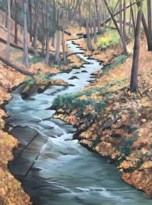 """Patty Porter • <em>Covert Gorge</em> • Oil on convass • 16""""×24"""" • $900.00<a class=""""purchase"""" href=""""https://state-of-the-art-gallery.square.site/product/patty-porter-covert-gorge/238"""" target=""""_blank"""">Buy</a>"""