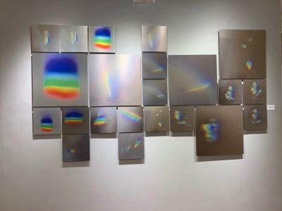 "Connie Zehr • <em>Spectral Projections</em> • Multi-panel metal print • 90""×50"" • NFS"