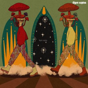 "Yen Ospina • <em>Fungi</em> • Digital art print • 13""×13"" • $85.00"