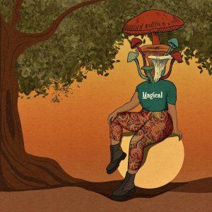 "Yen Ospina • <em>Magical</em> • Framed digital art print • 13""×13"" • $85.00<span class=""sold""></span>"