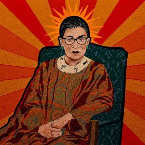 """Yen Ospina • <em>The Notorious RBG</em> • Framed digital art print • 13""""×13"""" • $85.00<a class=""""purchase"""" href=""""https://state-of-the-art-gallery.square.site/product/yen-ospina-the-notorious-rbg/381"""" target=""""_blank"""">Buy</a>"""