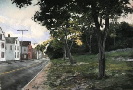 """Diane Newton • <em>Mack Park, Salem, Massachusetts</em> • Pastel on black Arches paper • 44""""×30"""" • $2,500.00<a class=""""purchase"""" href=""""https://state-of-the-art-gallery.square.site/product/diane-newton-mack-park-salem-massachusetts/418"""" target=""""_blank"""">Buy</a>"""