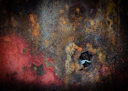 "Deborah Putman • <em>Rusty Barrel</em> • Archival pigment print • 16""×20"" • $120.00<a class=""purchase"" href=""mailto:debputman@me.com?subject=Inquiry about Rusty Barrel"" target=""_blank"">Contact</a>"