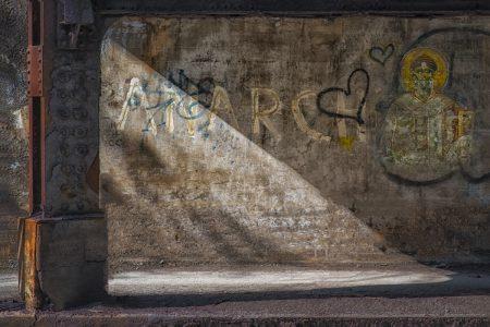"Thomas Kredo • <em>Catacombs</em> • Inkjet • 18""×24"" • $200.00<a class=""purchase"" href=""mailto:tkredo@gmail.com?subject=Inquiry about Catacombs"" target=""_blank"">Contact</a>"