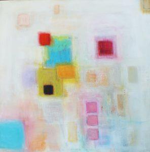 "Ethel Vrana • <em>Everlasting Brightness #2</em> • Oil on canvas • 36""×36"" • $1,240.00<a class=""purchase"" href=""https://state-of-the-art-gallery.square.site/product/ethel-vrana-everlasting-brightness-2/506"" target=""_blank"">Buy</a>"