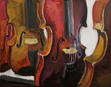 "Irina Kassabova • <em>Chosen </em> • Oil on canvas • 30""×24"" • $450.00<a class=""purchase"" href=""https://state-of-the-art-gallery.square.site/product/irina-kassabova-chosen/572"" target=""_blank"">Buy</a>"