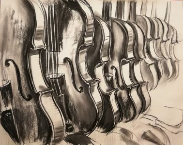 """Irina Kassabova • <em>Waiting Their Turn</em> • Charcoal • 46""""×39"""" • $750.00<a class=""""purchase"""" href=""""https://state-of-the-art-gallery.square.site/product/irina-kassabova-waiting-their-turn/580"""" target=""""_blank"""">Buy</a>"""