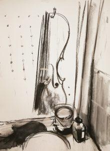 "Irina Kassabova • <em>Varnish</em> • Charcoal • $450.00<a class=""purchase"" href=""https://state-of-the-art-gallery.square.site/product/irina-kassabova-varnish/621"" target=""_blank"">Buy</a>"