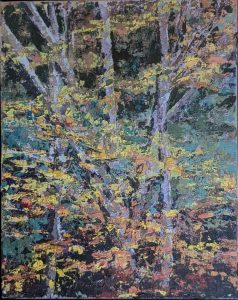 """Diana Ozolins • <em>Chapman Road Vermont October</em> • Oil on canvas • 8""""×10"""" • $50.00<span class=""""sold""""></span>"""