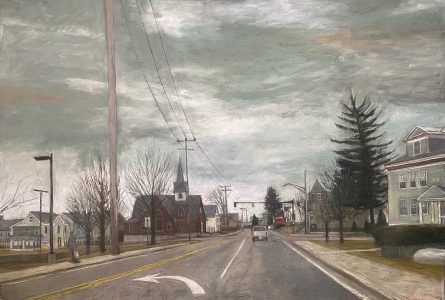 """Diane W Newton • <em>Early Hours/Lowell, Massachusetts</em> • Pastel on black arches paper • 44""""×30"""" • $3,500.00<a class=""""purchase"""" href=""""https://state-of-the-art-gallery.square.site/product/diane-w-newton-early-hours-lowell-massachusetts/660"""" target=""""_blank"""">Buy</a>"""