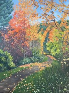 """Patty L Porter • <em>Fall ~ Cornell Botanical Garden</em> • Oil on gallery wrapped canvas • 18""""×24"""" • $800.00<a class=""""purchase"""" href=""""https://state-of-the-art-gallery.square.site/product/patty-l-porter-fall-cornell-botanical-garden/667"""" target=""""_blank"""">Buy</a>"""