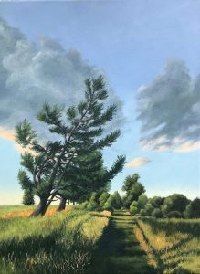 """Patty L Porter • <em>North on the Interlocken Trail</em> • Oil on gallery wrapped canvas • 18""""×24"""" • $800.00<a class=""""purchase"""" href=""""https://state-of-the-art-gallery.square.site/product/patty-l-porter-north-on-the-interlocken-trail/674"""" target=""""_blank"""">Buy</a>"""